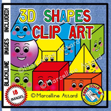 SOLID SHAPES CLIPART WITH FACES (GEOMETRY CLIPART)