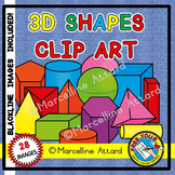 3D SHAPES CLIPART: SOLID SHAPES CLIPART: MATH CLIPART: GEOMETRY CLIPART
