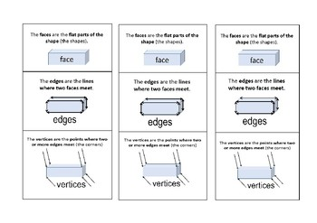 Faces Edges Vertices Worksheets & Teaching Resources | TpT