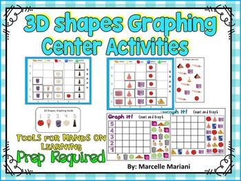3D SHAPES GRAPHING CENTER ACTIVITIES