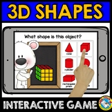 MATH BOOM CARDS GEOMETRY REAL LIFE 3D SHAPES RECOGNITION KINDERGARTEN 1ST GRADE