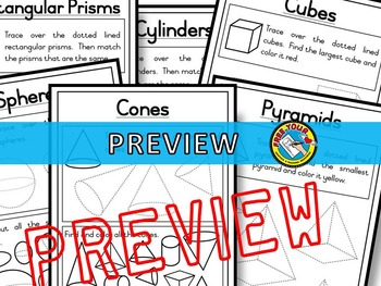 3D SHAPES WORKSHEETS AND ACTIVITIES