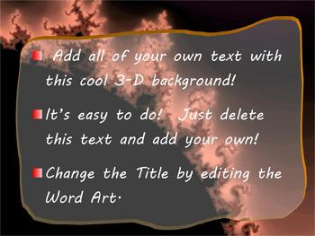 3d solar flare powerpoint template by science girl tpt 3d solar flare powerpoint template toneelgroepblik Gallery