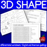 {3D SHAPES activity} {3D shape hunt} {3D shapes assessment}