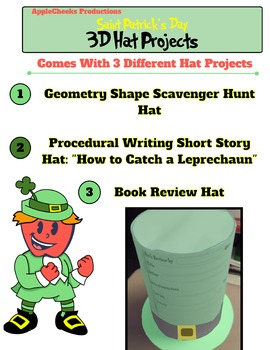3D Saint Patrick's Day Hat Projects Grades 1-5 (Math and Language Arts)