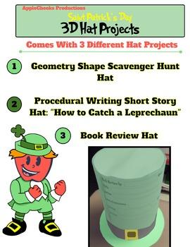 3D Saint Patrick's Day Hat Projects Grades 1-5 (Math and Language Arts)