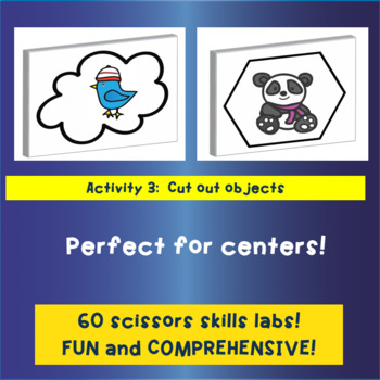 3D Scissors Skills: Winter Animal Themed
