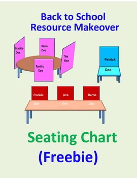 3D Seating Chart : Back to School Resource makeover {FREEBIE}