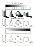 3D Shading Worksheet