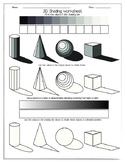 3D Shading Worksheet