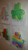3D Shamrock clover St. Patrick's Day