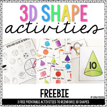 3D Shape Activities (FREE)