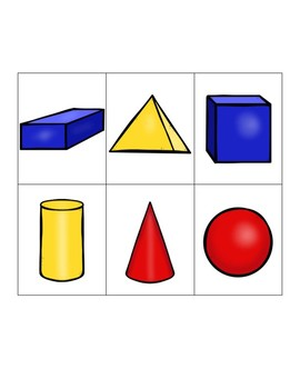 3D Shape Attribute Chart