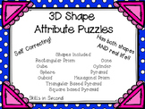 3D Shape Attribute Puzzles