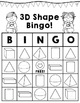 3D Shape BINGO!