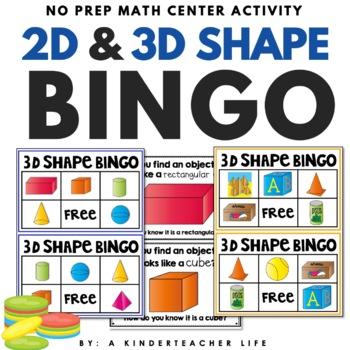 photo about Shape Bingo Printable known as 3D Condition BINGO