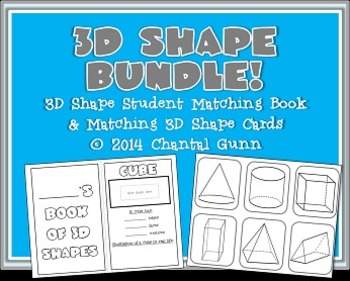 3D Shape BUNDLE! {Student Book & Matching Cards!}