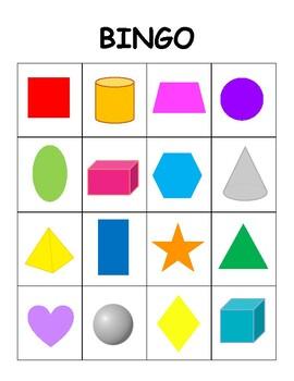 3D Shape Bingo