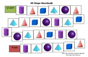 3D Shape Boardwalk