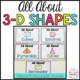 3D Shape Books Emergent Readers (Interactive)
