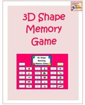 3D Shape Matching Card Game - 2 in 1 combo