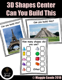3D Shape Center- STEM - Can you build this?  Famous Buildi