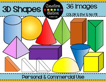 3D Shape Clip Art