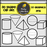 3D Shape Clipart FREEBIE!