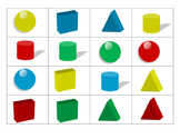 3D Shape & Color Bingo Game (3-Tiers for Differentiated In