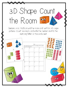 3D Shape Count the Room