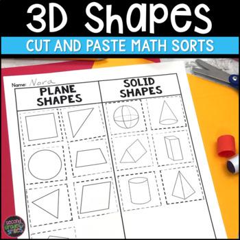 3D Shape Cut and Paste Sorts