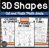 3D Shapes Cut and Paste Sorts
