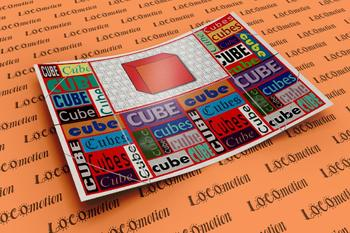 3D Shape Display Case: Cube
