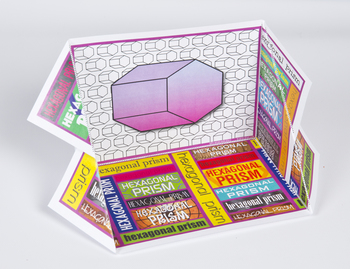 3D Shape Display Case: Hexagonal Prism