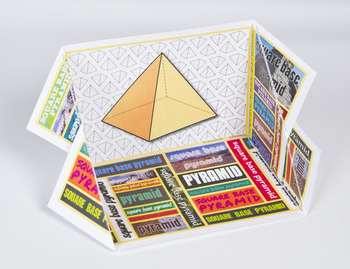3D Shape Display Case: Square Based Pyramid