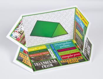 3D Shape Display Case: Triangular Prism