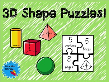 3D Shape Features Puzzles