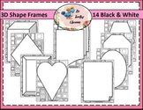 Borders Borders - 3D Shape Frames Black & White (Commercial Use)