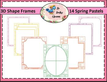Borders Borders - 3D Shape Frames in Spring Pastels (Comme