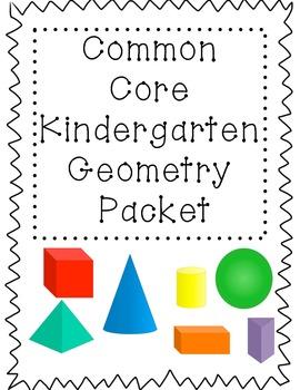 3D Shape Fun!!! A common core kindergarten geometry unit.