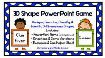 3D Shape Game {PowerPoint}