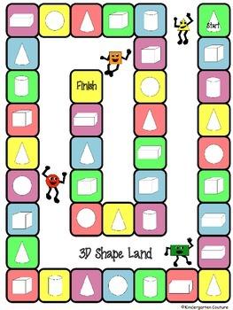 3D Shape Games -center activities