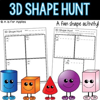 3D Shape Hunt {FREEBIE}