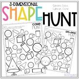3D Shape Hunt No Prep Worksheets - Sphere, Cube, Cylinder, Cone