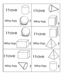 """3D Shape """"I Have, Who Has?"""" Game Cards"""