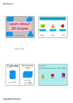 3D Shape Lesson
