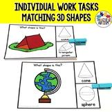 3D Shape Matching Task Box Activity