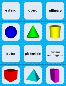 3D Shape Memory - English and Spanish