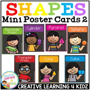 3D Shape Mini Poster Cards