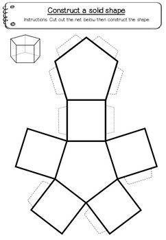 picture relating to Geometry Net Printable titled Form Nets (3D) - 15 printable world-wide-web templates (Maths - Geometry)